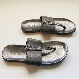 Kenneth Cole Grey Silver Sandals